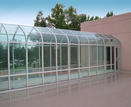 Glass Covered Walkway