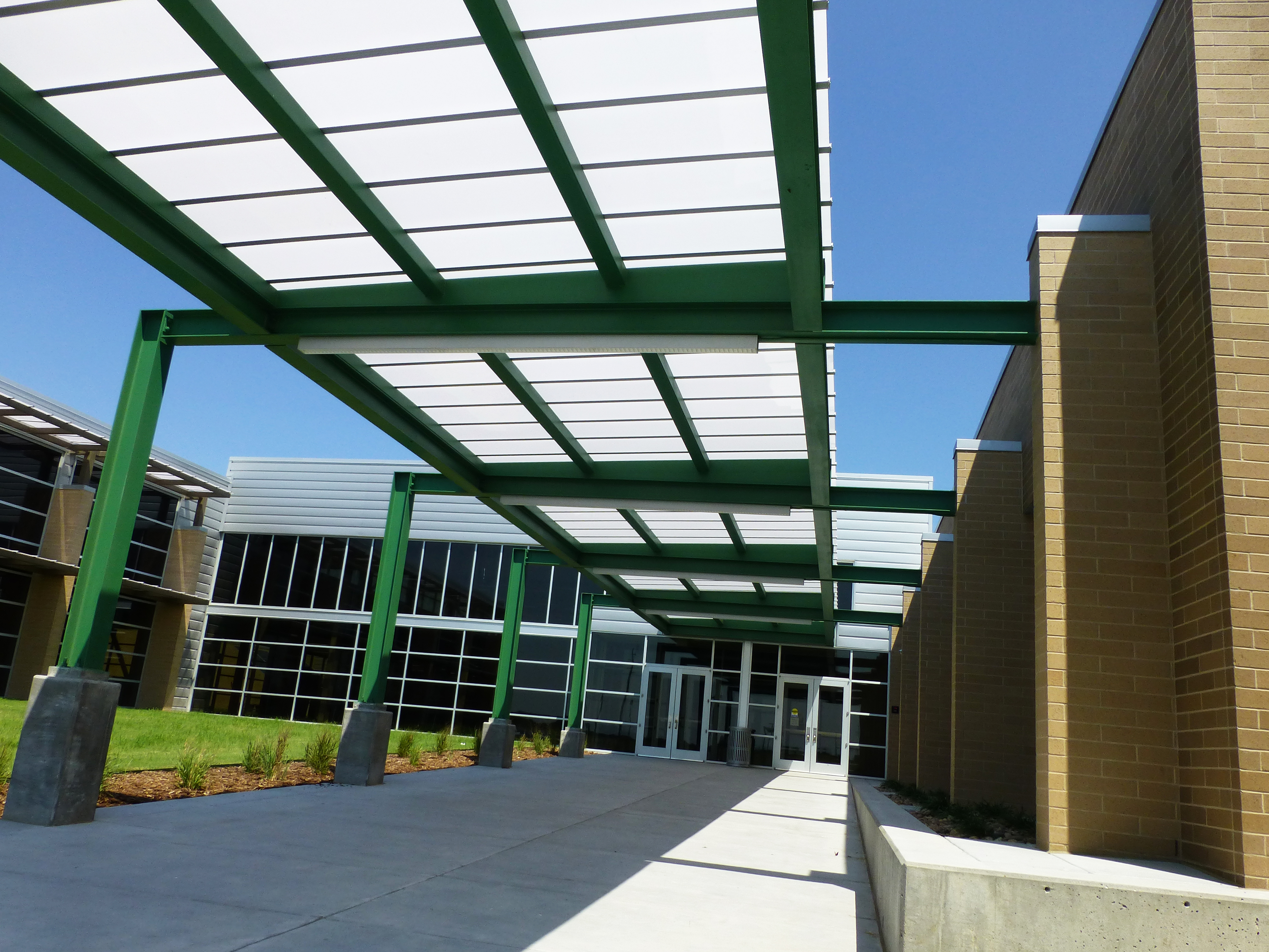 Derby Middle School Walkway Cover