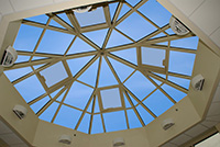 metal framed skylight